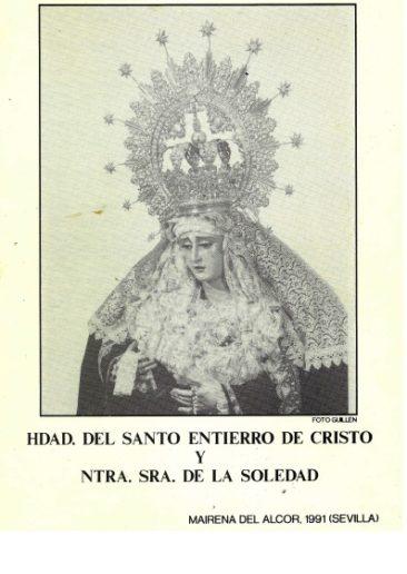Boletín Hermandad de la Soledad. 1991.