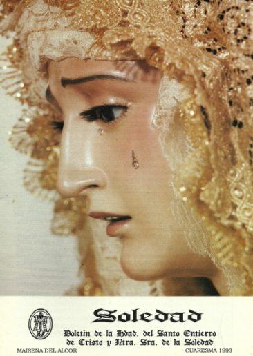 Boletín Hermanad de la Soledad. Mairena del Alcor. 1993